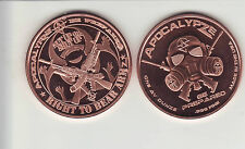 Zombie ApocalypZe Series  #3  RIGHT TO BEAR ARMS  1 oz. Copper Round Coin