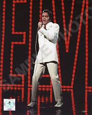 Elvis Presley Wearing White Suit IN CONCERT 8X10 PHOTO
