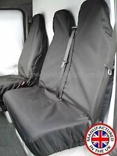 Vw Volkswagen Crafter 2009 Resistente Negro Impermeable van cubiertas de asiento 2 +1