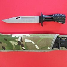 MINT BRITISH ARMY SA80 BAYONET KNIFE COMPLETE WITH SCABBARD & MULTICAM FROG  -01