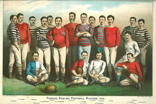 Famous England Rugby Union Football Players 1881 6x4 Inch Print Reprint English