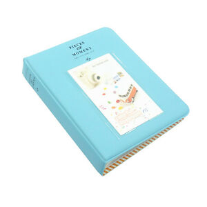 Fuji Instax Photo Album-Mini 9 8 8+ 70 90 7s 25 26 50s/Pringo 231/Polaroid -Blue