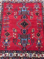 Antique Handmade Persian Afshar Rug&carpet,wool and Cotton Size:171cm by 141cm