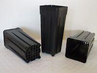 Deep Square Pots  7 x 7 x 18 cm 0.7 litre , lot of 10 pots