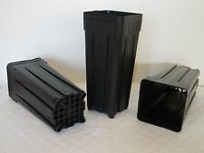 Deep Square Pots  7 x 7 x 18 cm 0.7 litre , lot of 10 pots