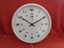 Large Retro Smiths White Bakelite Electric Wall Clock School Office Kitchen 14'