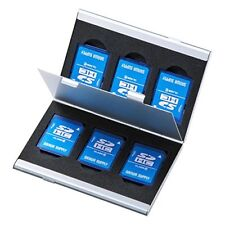 Sanwa Aluminum memory card case (double-sided storage type for the Sd card) Fc-M