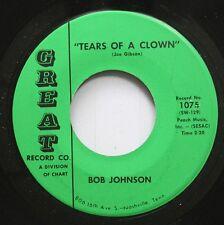 Hear! Rockabilly 45 Bob Johnson - Tears Of A Clown / A Day Late And A Dollar Sho