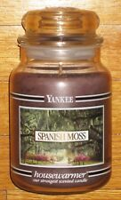 Yankee Candle - SPANISH MOSS - 22 oz - Black Band - VERY RARE AND HARD TO FIND!!