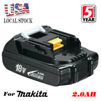 18V 2.0Ah Lithium Battery 18 Volt For Makita LXT BL1830 BL1815 BL1820 Drill TOOL