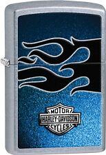 Zippo New 2015 Catalog HD Harley Davidson Blue Flame Street Chrome Lighter 28822
