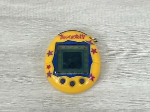 Tamagotchi Connection V2 Version 2 Yellow With Stars Bandai 2004 WORKING AS SEEN