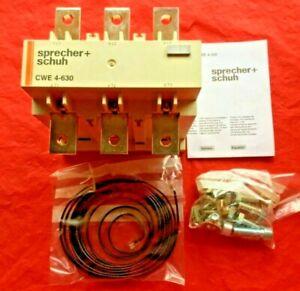 SPRECHER & SCHUH CWE4-630 Motor Protection Relay