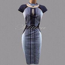 Dynamic Karen Millen Black Multi Graphic Texture Print Cocktail Wiggle Dress 12