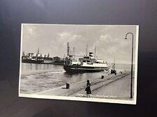H4-1 postcard unused rp faergen dani helsingor havn