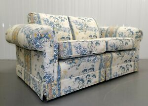 UPHOLSTERY BY ASHLEY LAWRENCE FLORAL SOFA ON ROLL ARMS WITH REVERSIBLE CUSHIONS
