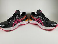 ASICS Gel Excite 3 Running Sneakers Pink Orange Black T5B9Q Women's Size 7.5