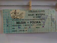TICKET Poland - Belgium 1985