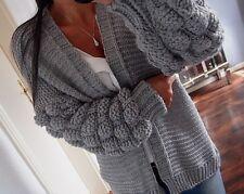 b09dfab4aba4ad Grob Cardigan Neu S M 38 Strick Jacke Grau Warm Wolle Knit Blogger Chic  Mustahve