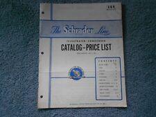 RARE VINTAGE 1953 SCHRADER LINE ILLUSTRATED CONDENSED CATALOG 144 & PRICE LIST
