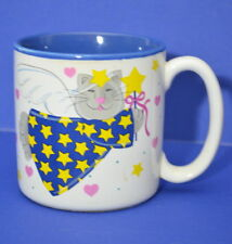 Cat Angels coffee cup from Potpourri Press stars hearts 1993