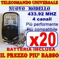 TELECOMANDO MHZ UNIVERSALE 433 CANCELLO 20 GARAGE PER FAAC CAME FADINI uc