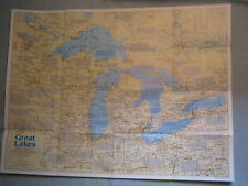 GREAT LAKES MAP + THE MAKING OF AMERICA HISTORY National Geographic July 1987