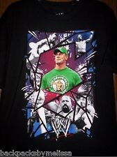 WWE John CENA Black Shirt Boy's 14/16 NeW Wrestling Rey Mysterio Orton Sheamus