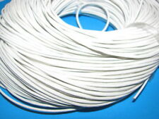 2m WHITE GENUINE LEATHER CORD 2mm