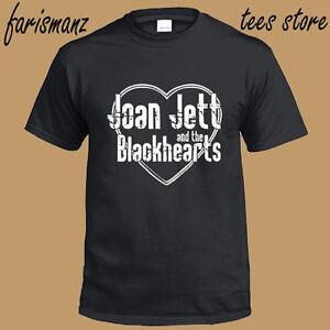 Joan Jett and The Blackhearts Logo Men's Black T-Shirt Size S to 3XL