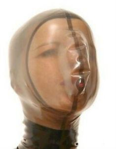 "100% Pure Latex Hood Rubber Fashion  ""TOP-ANGEBOT"" breath play 0.4MM S-XXL"