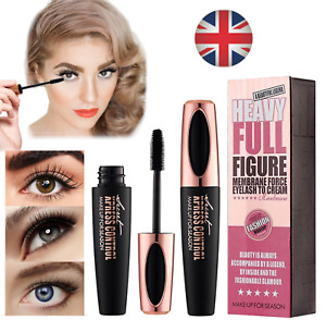 4D Silk Fibre Mascara False Lashes Waterproof Eyelash Extension Volume Make Up