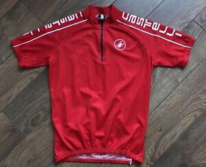 Castelli Bib Jersey Velo Vintage Swiss Red Logo Size L