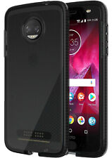 Tech21 Black Smoke EVO Check Anti-Shock Case Cover for Motorola Moto Z2 Force