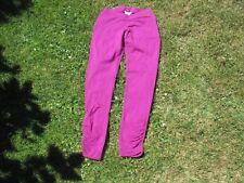 Yoga-Hose von MANDALA  Größe XS  violett  geraffte Unterschenkel  Organic Cotton