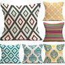 Vintage Geometric Waist Throw Pillow Case Square Cushion Cover Home Sofa Decor