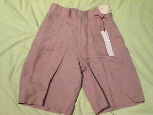 NWT- Perry Ellis- Tan Taupe Brown Elastic Waist Linen Shorts- Pants Boys Size 4T