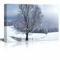 "Canvas Prints - Beautiful Winter Landscape with Snow Covered Trees - 24"" x 36"""