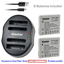 Kastar NB-4L Battery Charger for Canon PowerShot SD40 SD400 SD430 SD450 SD600