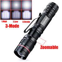 Q5 LED 2000 Lumen Lamp Clip Mini Zoomable Flashlight Torch Penlight AA 9.3x2.3cm