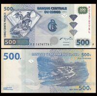 CONGO (Democratic Republic) 500 Francs, 2002, P-96, UNC World Currency