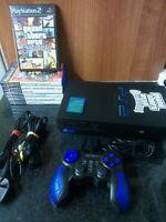 Sony PlayStation 2 PS2 Black Console Bundle SCPH-39003 7 Games - GTA San Andreas
