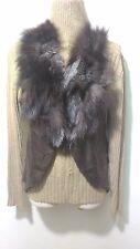D10 new design 100% real fox fur collar waistcoat