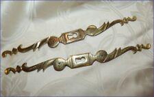 Paire d'Entrées de Serrures - Platine en Bronze pour Meubles - Coqs d'Armoires 1