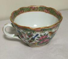 Antique 19th C China Export hand painted Famille Rose cup