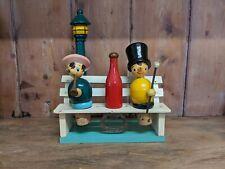 Cork Screw Bottle Opener Cork Stopper toff, little girl Wooden Bench Display