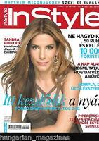 InStyle Ungarn / Hungary Hungarian Magazine N 2009/07 - Sandra Bullock - Cover