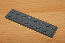 Lego 3034, 10x Platten Plättchen Bauplatte 2x8 plate neu dunkelgrau grey