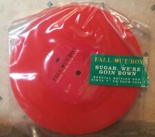 """FALL OUT BOY 7"""" SPEC EDITION 2006 TOUR RED VINYL RECORD SUGAR WE'RE GOIN DOWN"""