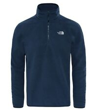 Mens The North Face 100 Glacier Quarter Zip Jacket Fleece Urban Navy Large Je15